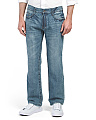 Straight Fit Big Stitch Denim Jeans