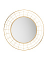 28in Round Hoop Metal Mirror