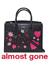 Made In Italy Baby Sac De Jour Heart Patchwork Leather Bag
