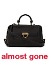 Made In Italy Medium Sofia Push Lock Leather Handbag