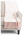 Henna Elephant Fringe Throw