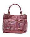 Embossed Leather Tote