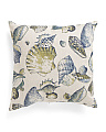 Made In USA 22x22 Seashells Pillow