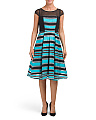 Made In USA Addison Striped Flare Dress