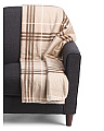 Plaid Micromink Throw With Sherpa Back