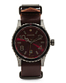 Men's Swiss Made Diplomat Dual Time Nato Strap Watch