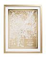 16x20 Framed 1899 Los Angeles Map