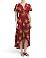 Made In USA Floral Wrap Dress