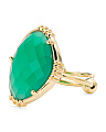 Made In India 14k Gold Plate Green Onyx Ring