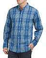 Non-iron Stretch Plaid Twill Shirt