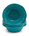 4pk Outdoor Medallion Bowls