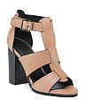 Mara Side Buckle Leather Sandals