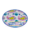 16in Outdoor Aloha Cream Oval Tray