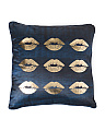 18x18 Velvet Lips Pillow
