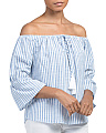Juniors Off The Shoulder Woven Top