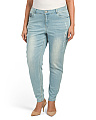 Plus Peak Through Gem Boyfriend Jeans