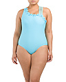 Plus Asymmetrical One-piece Swimsuit