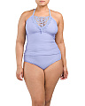 Plus Crochet Two-piece Tankini