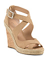 Ankle Strap Cork Wedge Sandals