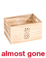 Small Pineapple Cut Out Storage Bin
