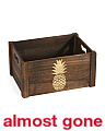 Medium Pineapple Print Storage Bin