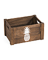Small Pineapple Print Storage Bin