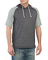 Short Sleeve Hooded Henley Shirt