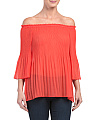 Off The Shoulder Pleat Top