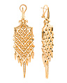 Made In UK Gold Plated Silver Diamond Chandelier Earrings