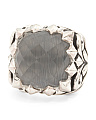 Made In UK Sterling Silver Baroque Crystal Haze Ring