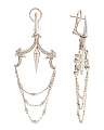 Made In UK Sterling Silver Diamond Chandelier Earrings