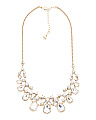 Teardrop Crystal Statement Necklace In Gold Tone