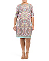 Plus Moroccan Paisley Shift Dress