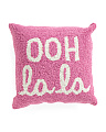 16x16 Hand Hooked Ooh La La Pillow