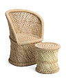 Made In India Handwoven Chair And Stool
