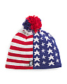 Patriotic Merino Wool Fleece Lined Beanie