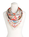Made In Italy Printed Silk Scarf
