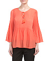Pleated Baby Doll Top