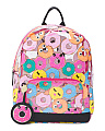 Clear Donut Print Backpack