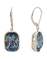Sterling Silver Swarovski Rectangular Crystal Earrings