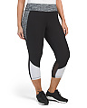 Plus Active Color Block Capris