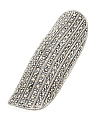 Sterling Silver Pave Marcasite Long Statement Ring