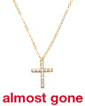 Made In Italy 14k Gold Pave Cubic Zirconia Cross Necklace