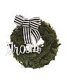 10in Faux Fern Groom Wreath