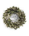 18in Faux Fern Lover Starts Here Wreath