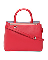 Made In Italy 2 Jours Leather Satchel