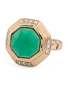Camila Green Onyx And Cubic Zirconia Cocktail Ring