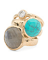 Margo Multi Gemstone Stacking Ring