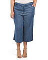 Plus Denim Culottes