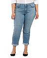 Plus Made In USA Sylvia Relaxed Boyfriend Jeans